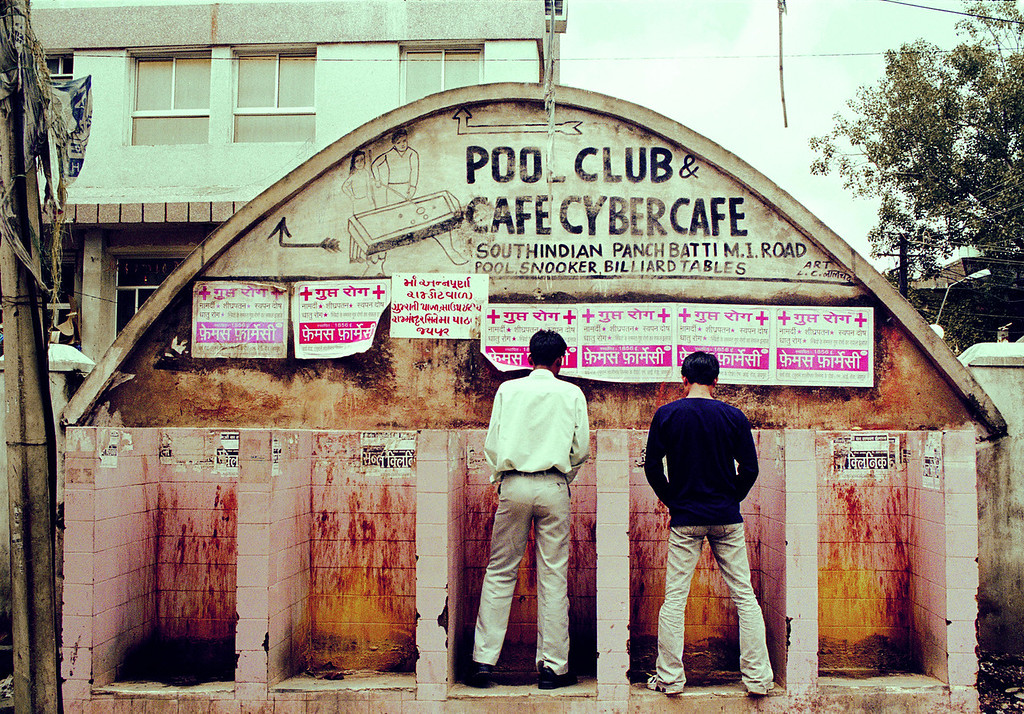 Men at Urinals Rajasthan india