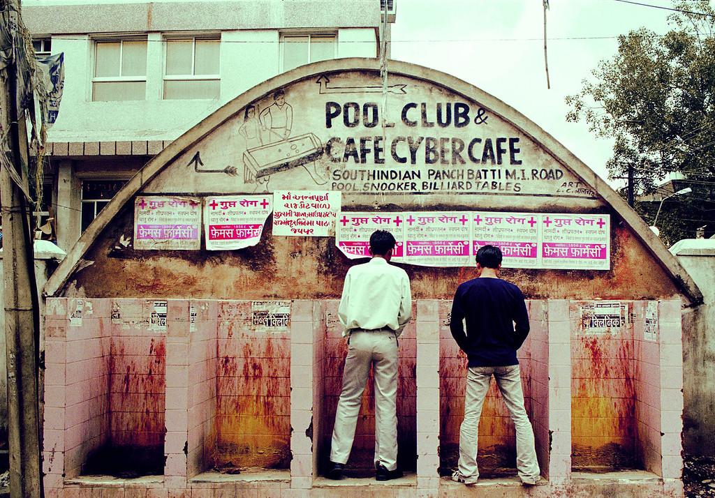 Men at Urinals Rajasthan india