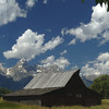 Grand Teton N P  Mormon Barn Panoramic