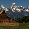 Grand Teton N P  Mormon Barn Panoramic (2)