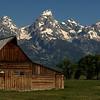 Grand Teton N P  Mormon Barn Panoramic (2)