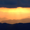 Smoky Mtn  N P  Clingmans Dome Panoramic Sunset