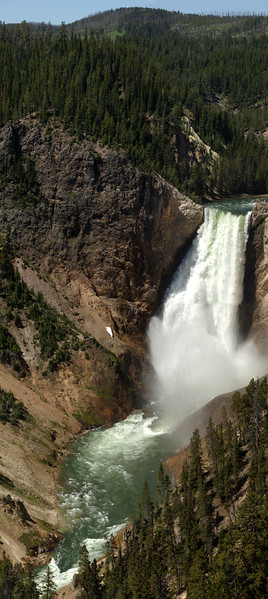 Lower Yellowstone Falls Panoramic