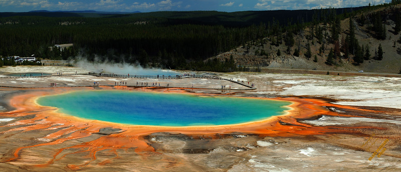 Yellowstone Grand Prismatic Panoramic