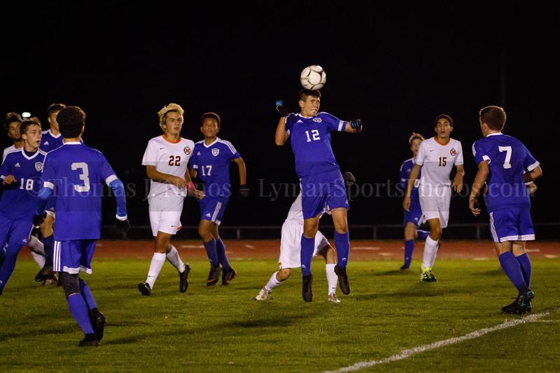 Lyman Memorial High School Boys Soccer vs Montville (Military Appreciation Night)