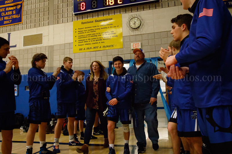 Lyman Memorial High School/Windham Tech Wrestling vs Norwich Tech/St. Bernards (Senior Night)