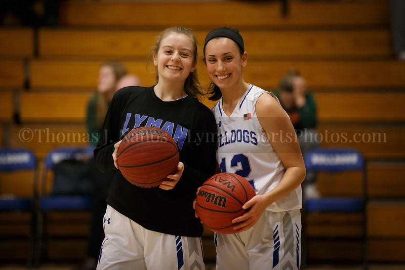 Lyman Memorial High School Girls Basketball vs Griswold (pre-game)