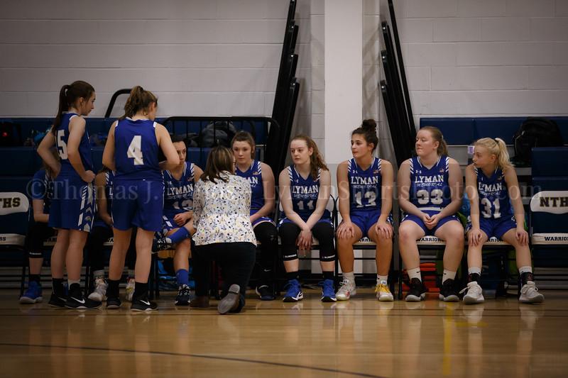Lyman Memorial High School Girls Basketball at Norwich Tech (Varsity)