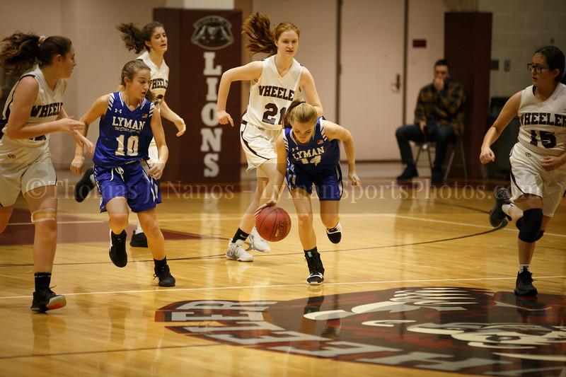 Lyman Memorial High School Girls Basketball at Wheeler (Junior Varsity)