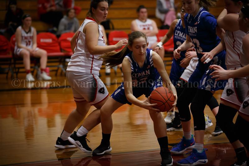 Lyman Memorial High School Girls Basketball at Tourtelotte (Junior Varsity)