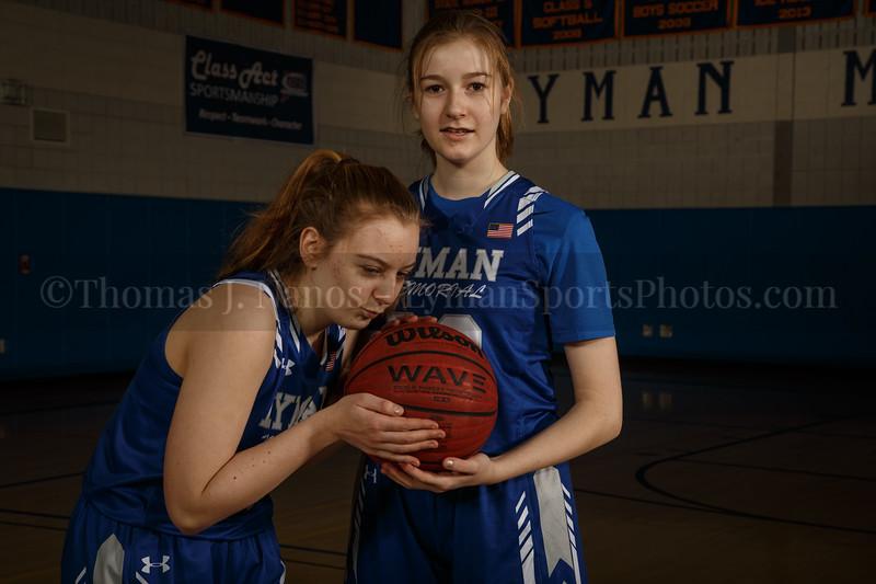 Lyman Memorial High School Girls Basketball Team - Siblings-Katina and Callie