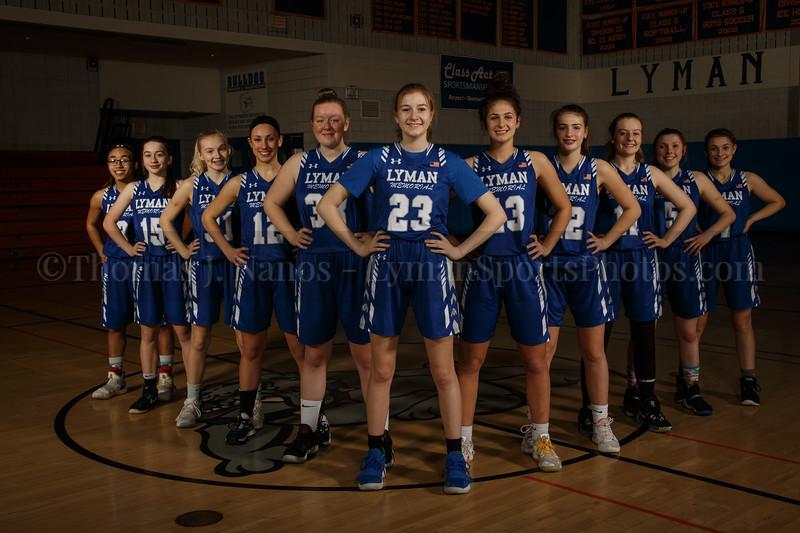 Lyman Memorial High School Girls Basketball Team - Varsity