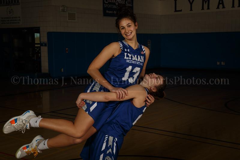 lyman Memorial High School Girls Basketball Team - Siblings-Sidney and Taylor