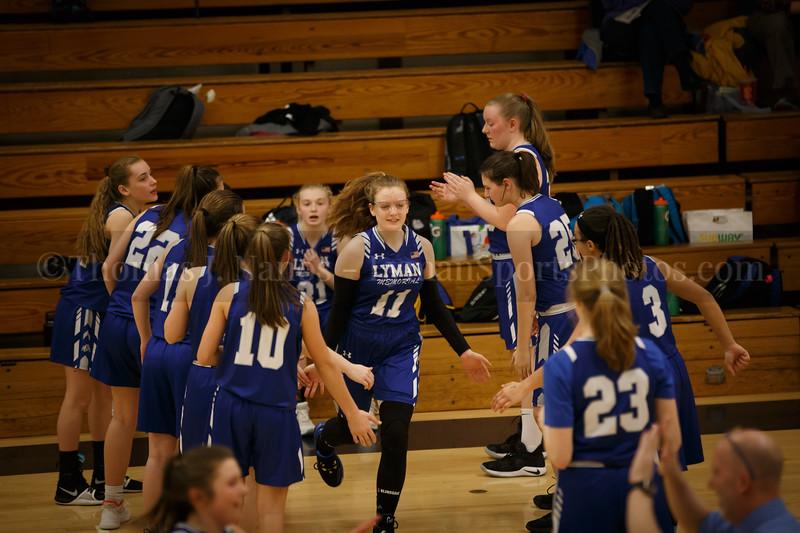 lyman Memorial High School Girls Basketball at Ledyard (Varsity)