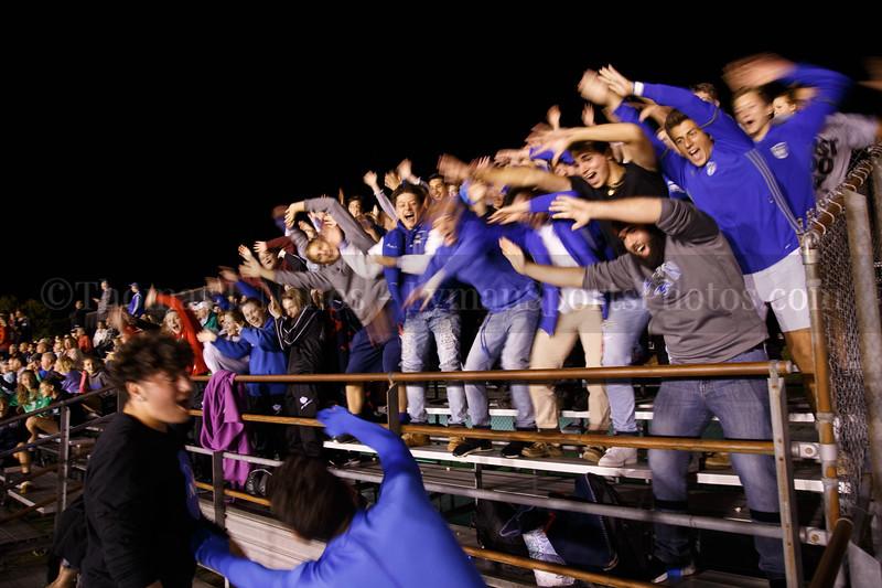 The Dog Pound doing the Lyman Coaster - Lyman Memorial High School Girls Soccer vs St. Bernards