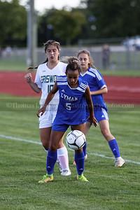 Lyman Memorial High School girls soccer vs Griswold