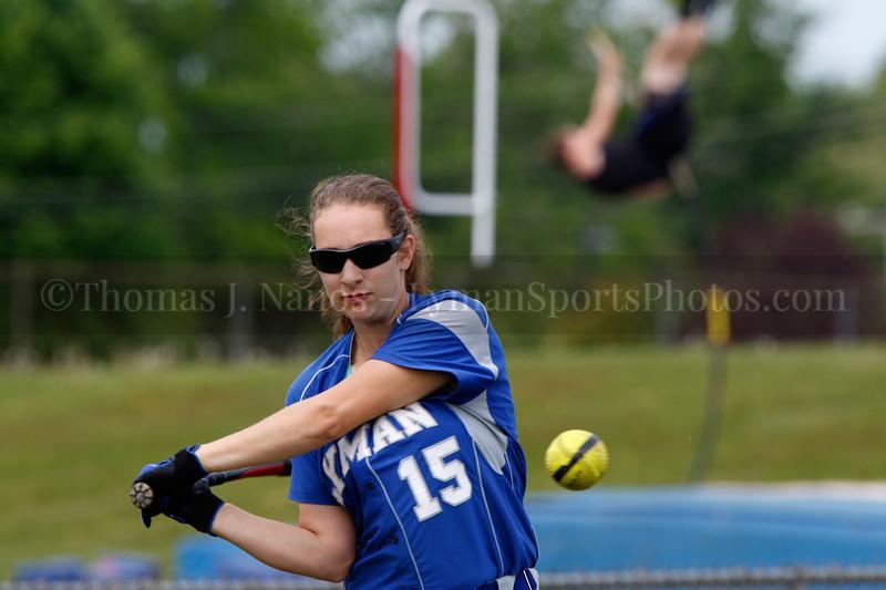 Lyman Memorial High School Softball vs Montville (ECC Playoffs) - Warmups