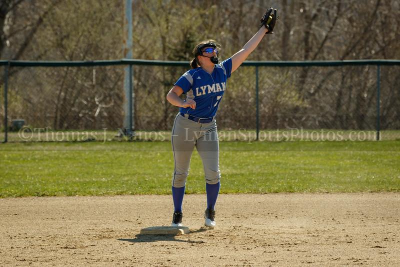 Lyman Memorial High School Softball at Griswold (warmups)