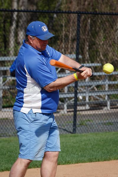 Lyman Memorial High School Softball at Suffield - Pre Game Warmup