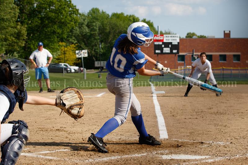 Lyman Memorial High School Softball vs Woodstock Academy (ECC tournament first round)