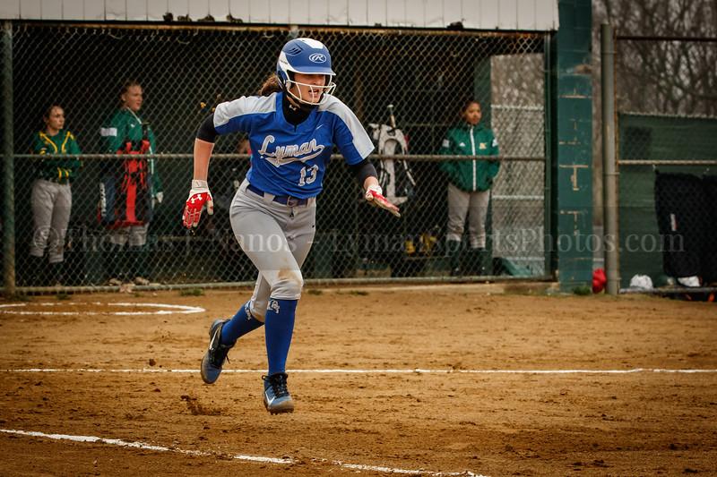 Lyman Memorial High School Softball at New London