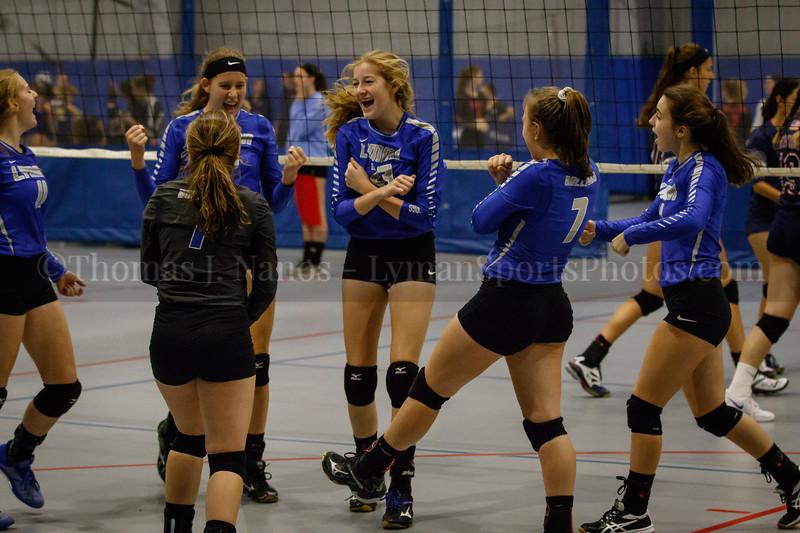 Lyman Memorial High School Varsity Volleyball at the Spiketacular 2018 tournament (Woodbridge CT)