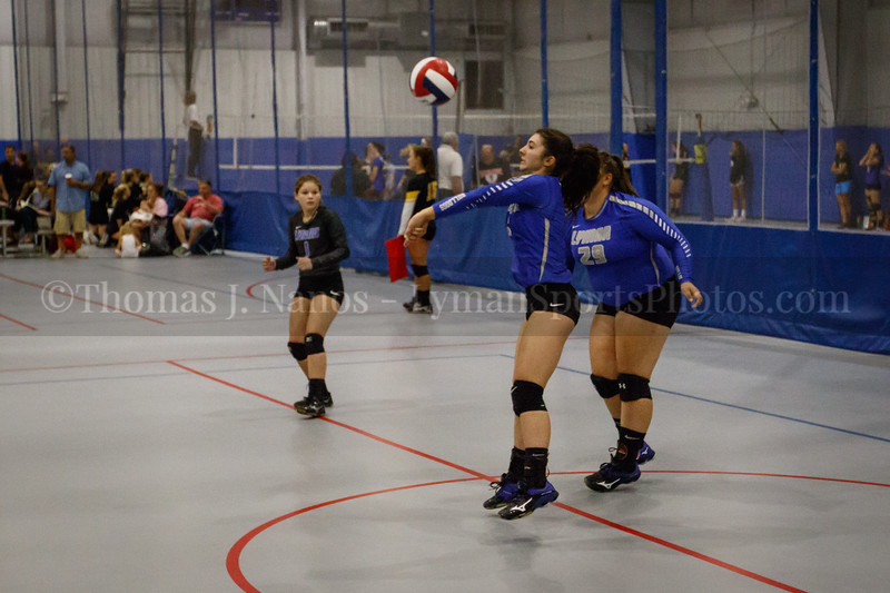 Lyman Memorial High School Varsity Volleyball at the Spiketacular 2018 tournament (Woodbridge CT)