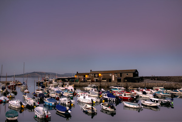 The harbour at sunset, Lyme Regis