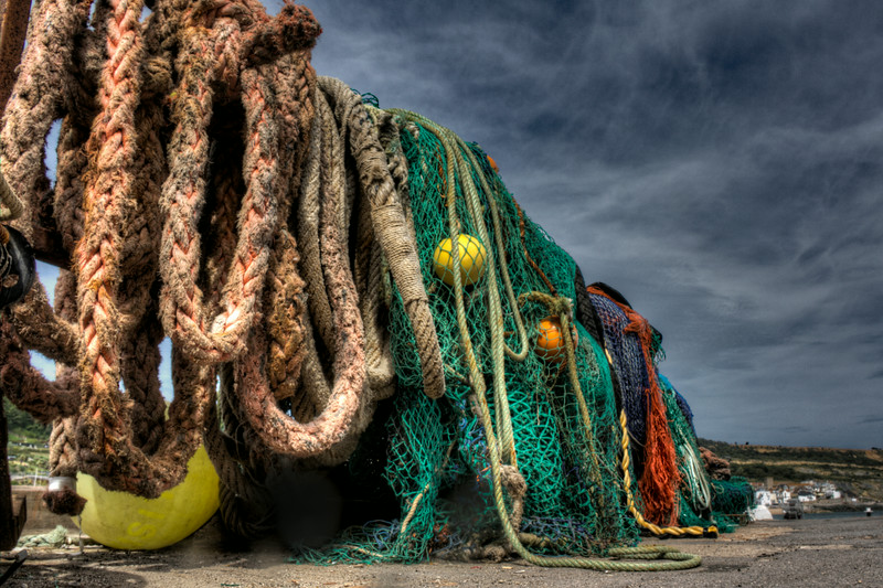 Fishing nets on The Cobb, Lyme Regis