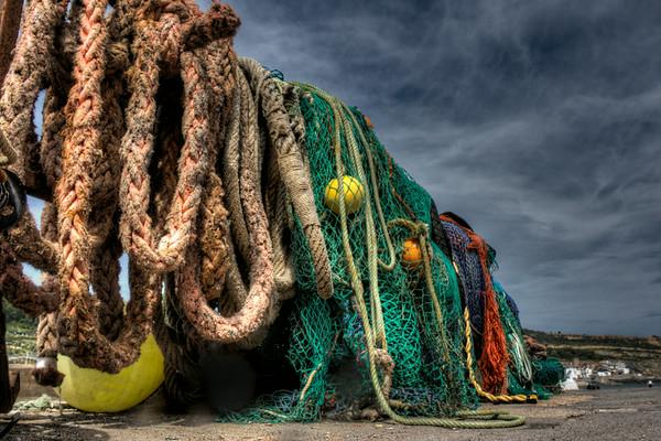 Fishing nets on The Cobb, Lyme Regis