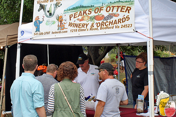One of the wineries represented at the festival