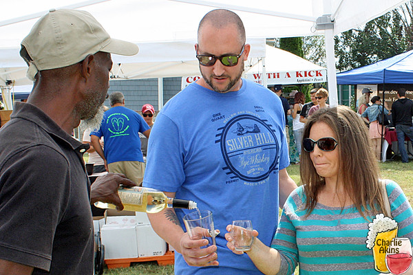 Wineries and breweries at the festival