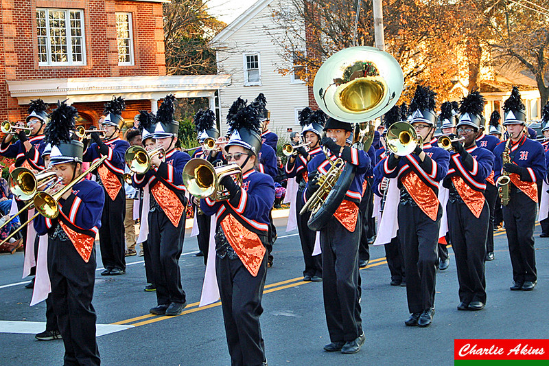 Heritage High School Band played in the parade.