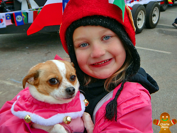 Girl with her sweet pup