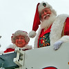 Santa and Mrs. Claus at the Lynchburg Christmas Parade.