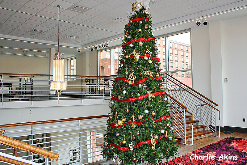 Music theme Christmas tree at the Academy Center of the Arts in Downtown Lynchburg