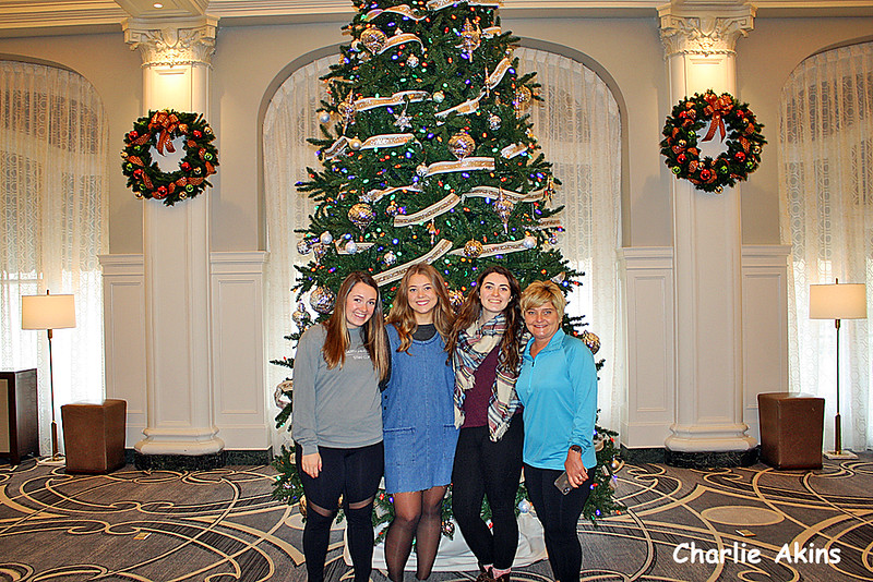 I also went downtown to look at the Christmas decorations. This picture was taken at The Virginian Hotel.