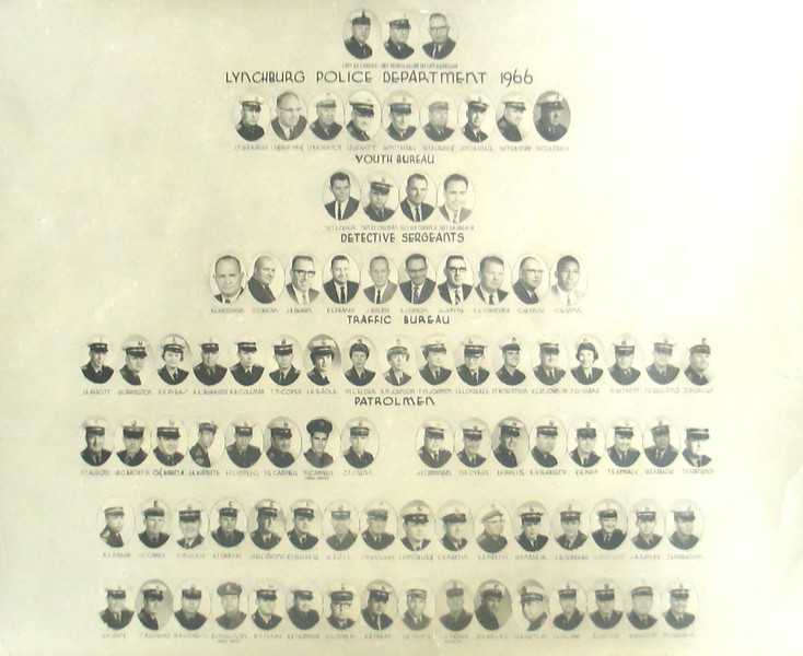 A 1966 Photo Roster of the Lynchburg Police Department  (06653)