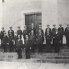 Police Chief Irwin & Several Officers at Old Court House  (06660)