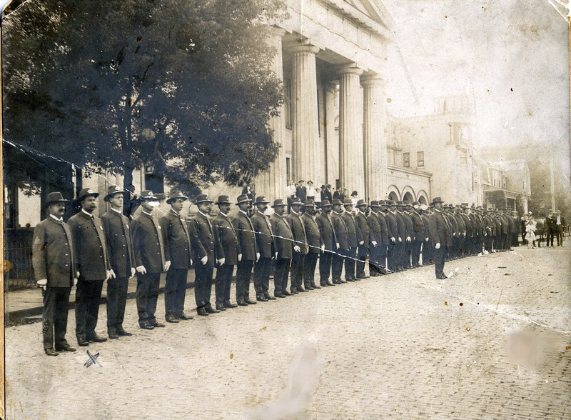 A 1910's Photo of Police Department at OCH  (06663)