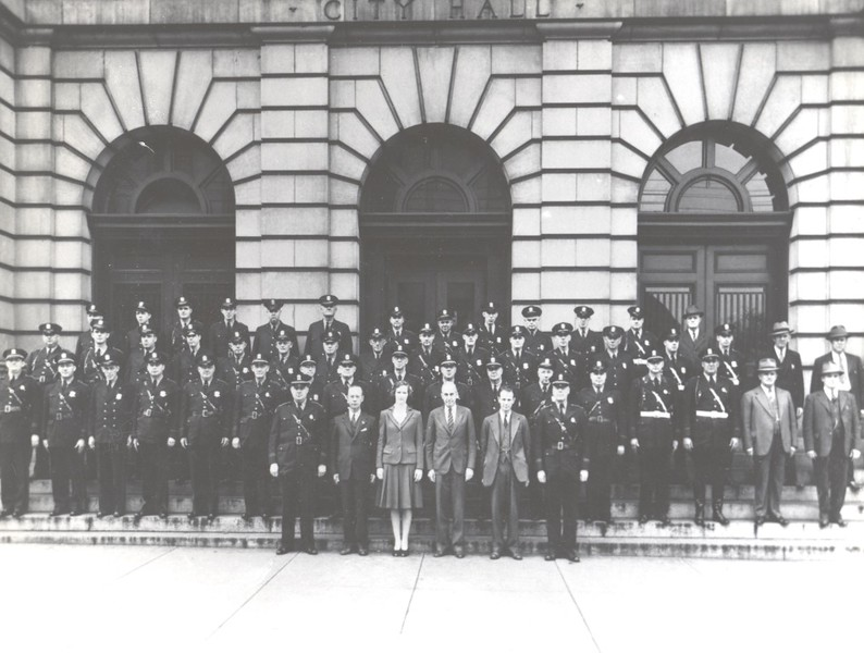 The Lynchburg Police Department and Staff ca. 1943  (06670)