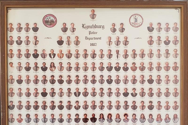 Lynchburg Police Department in 1982  (O 2019. 35.1)