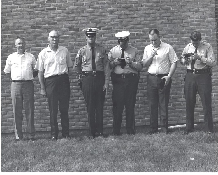 Six Officers of the Lynchburg Police Department, ca. late 1950's  (06693)