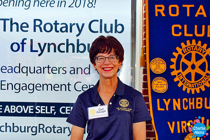 This nice lady represents The Rotary Club of Lynchburg.
