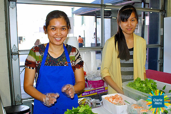 These ladies prepared food at the event.