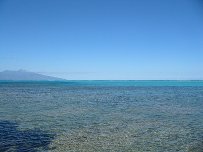 Water view - The Island of Tahiti is to the left