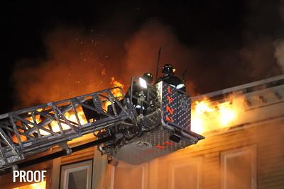 Lynn MA 3rd alarm fire 259 Chestnut Street  12/21/16