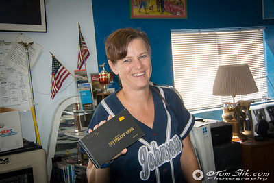 Lynn is pretty proud to get her first Pilot's Log Book to record her upcoming flights!