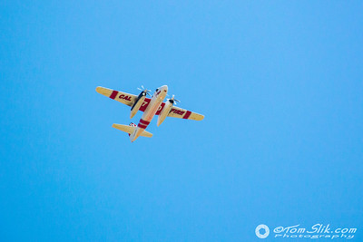 CAL Fire CDF Tanker #70 flies over Ramona Airport