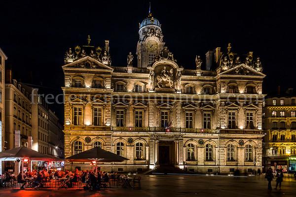 Place des Terreaux à Lyon un 26 janvier